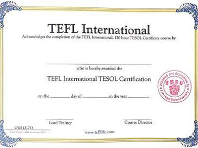 The Truth of Teaching Certificates for Foreign Teachers (Interpretation of Tefl, Tesol, Tesl Certificates)
